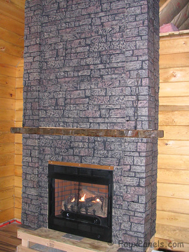 stone veneer used around fireplace flickr photo sharing