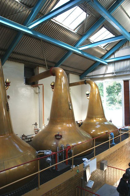 Stills at Aberlour Distillery