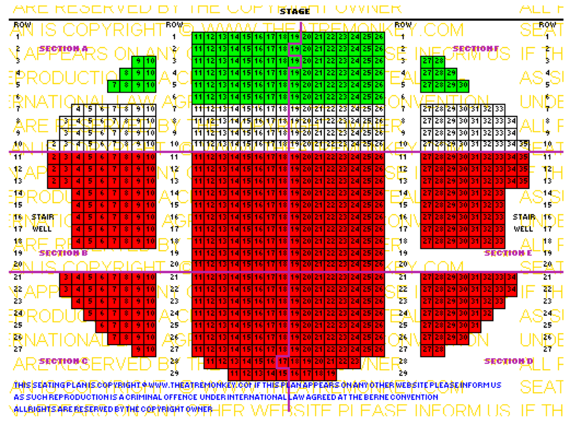 Amit seating allocated for 02 arena floor seating plan