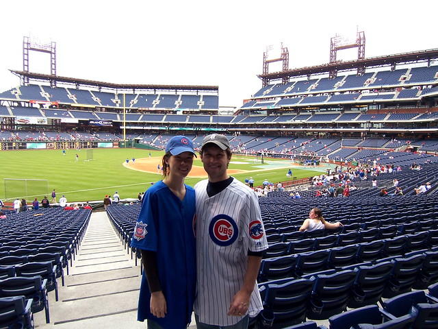 ian and anna decked out for the cubs