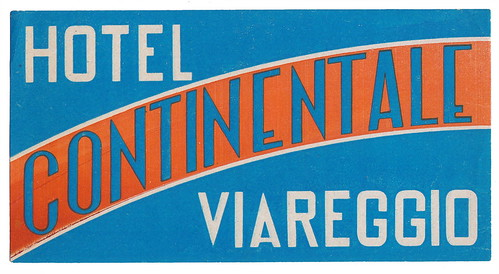 Viareggio - Hotel Continentale by Luggage Labels by b-effe