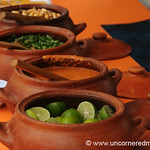 An Array of Condiments -Mistura Gastronomy Festival in Lima, Peru