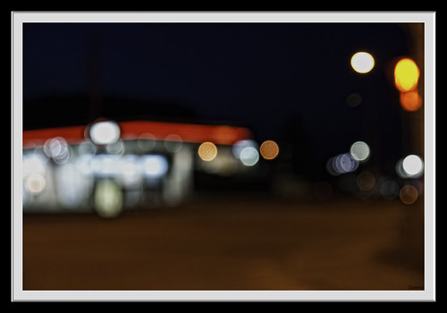 Esso Gas Station (Night Shot)