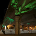 MassDOT posted a photo:	Light art with a St. Patrick's Day shamrock theme illuminates the new parking area under the I-93 SE Expressway in Boston.