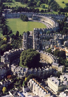 Aerial View of Royal Crescent, the Circus & the Assembly Rooms, Bath