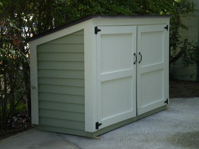 how to build a garbage can shed