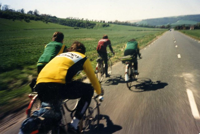 East Sussex 200km Audax UK Randonnee - the hammer goes down. 1988