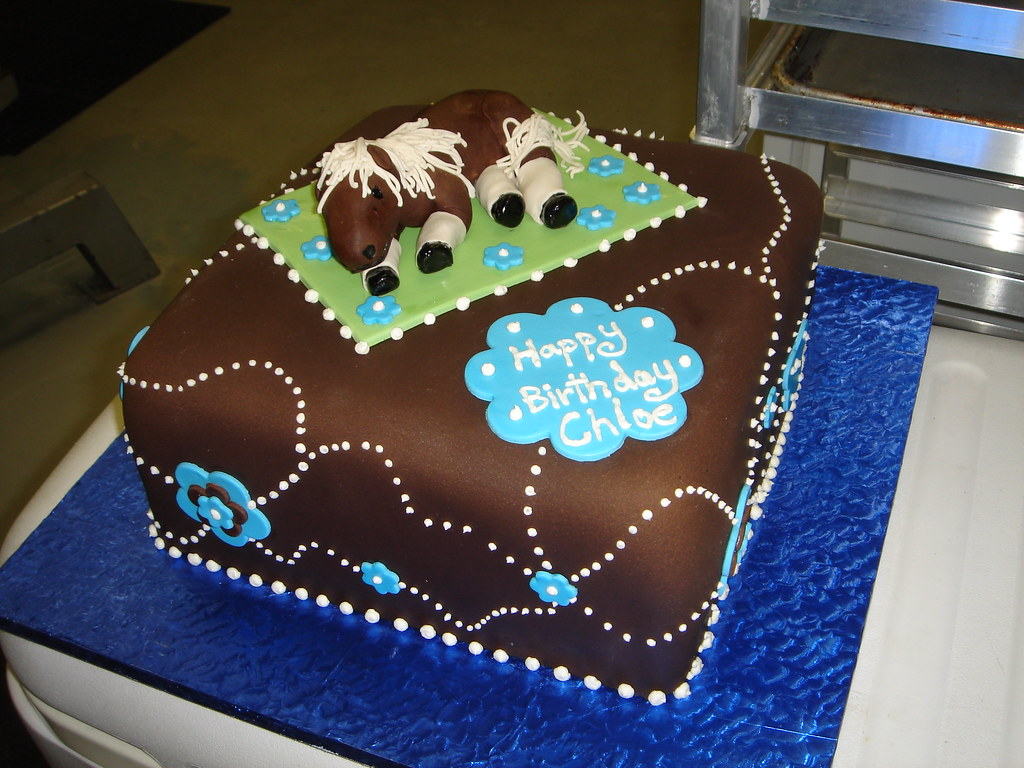 Horse On Blanket Birthday Cake