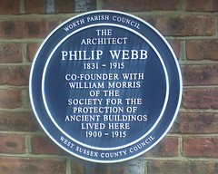 Photo of Philip Webb blue plaque