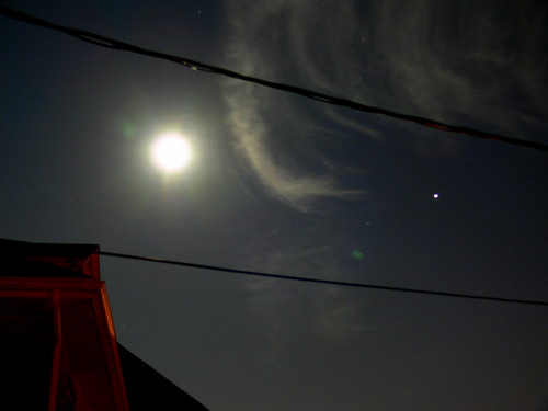The Moon and Jupiter by Corbeau du Nord