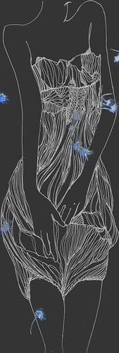 summer fantasy fashion illustration