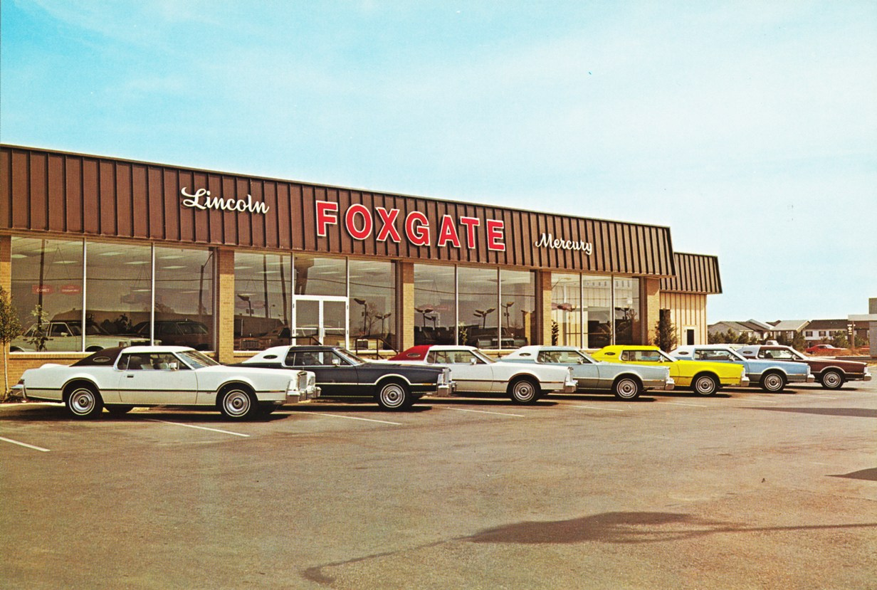 Car Dealerships In Memphis >> Foxgate Lincoln-Mercury, Memphis TN, 1970s - a photo on ...
