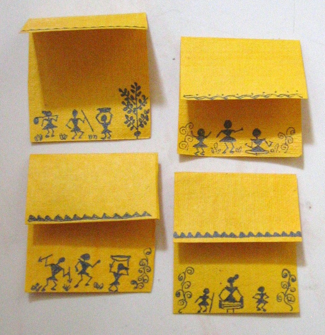 Warli Tribal Wall Art on gift tags! - a photo on Flickriver