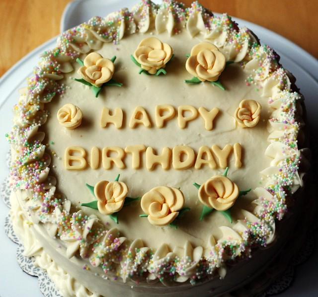 Birthday Cake Yellow Whipped Cream