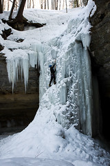 Ice Climbing - Tannery Falls by James Marvin Phelps