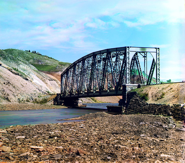 The bridge over the river Katava, 1910