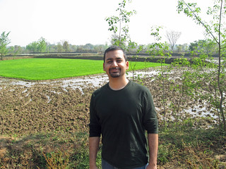 In front of our rice paddy