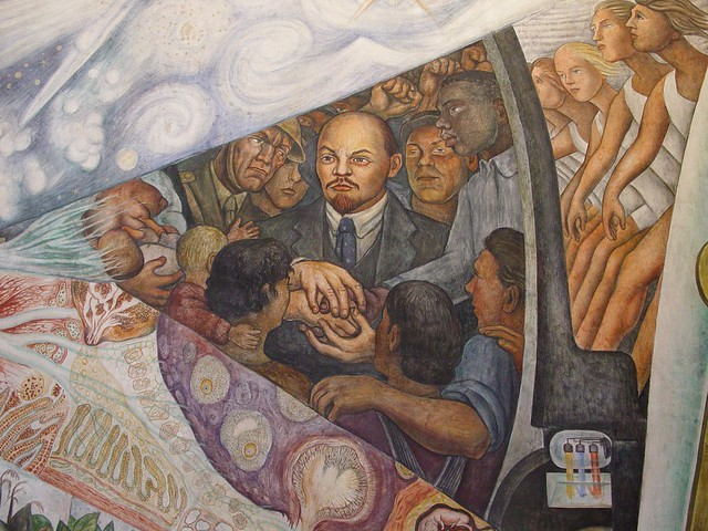 Mexico city bellas artes detail of diego rivera mural for Diego rivera mural rockefeller
