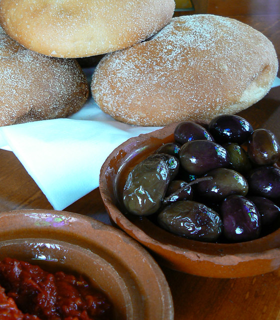 Local bread meets olives Doha