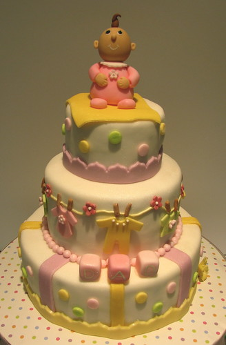 """Daddy's"" Baby Shower Cake"