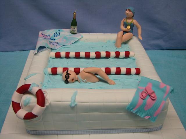 Photo - Swimming pool birthday cake pictures ...