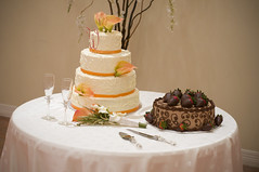 wedding cake & groom's cake