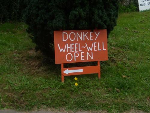 Donkey wheel well sign