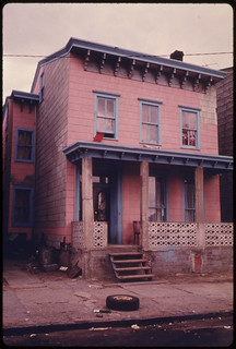 House in the Inner City of Paterson, New Jersey. The Inner City Today Is an Absolute Contradiction to the Main Stream America of Gas Stations, Expressways, Shopping Centers and Tract Homes ... 06/1974
