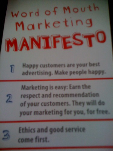 word of mouth marketing manifesto