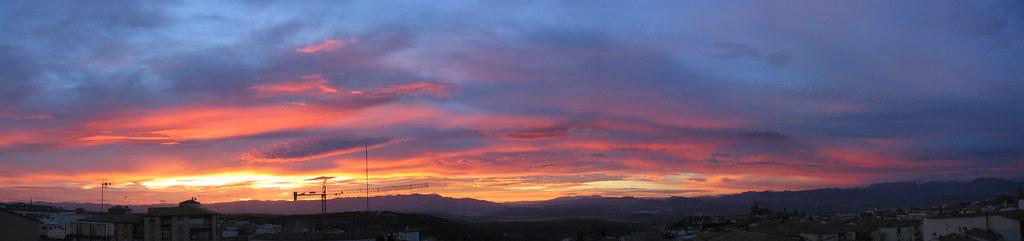 panorámica del amanecer octubre 06