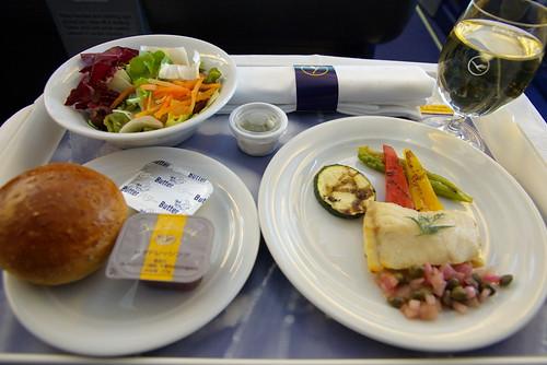 Lunch First Course, Lufthansa LH711 NRT-FRA, Business Class