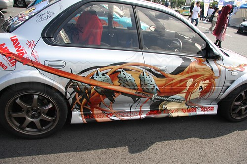 When the Anime world and Car world collide in Japan