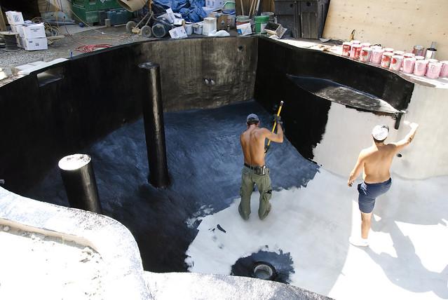 Koi Pond Construction Paint 1 Flickr Photo Sharing