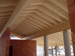 Particolare costruttivo tetto in legno lamellare