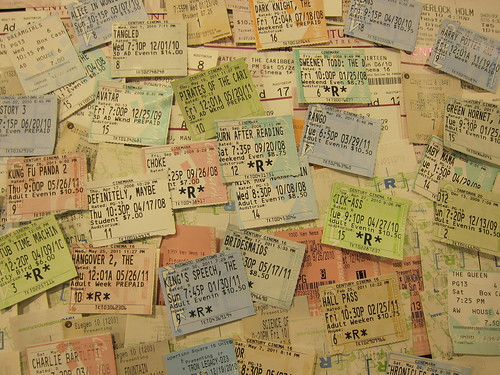 5 years of movie tickets