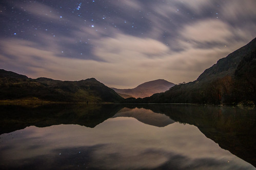 Dinas Lake calm in the night