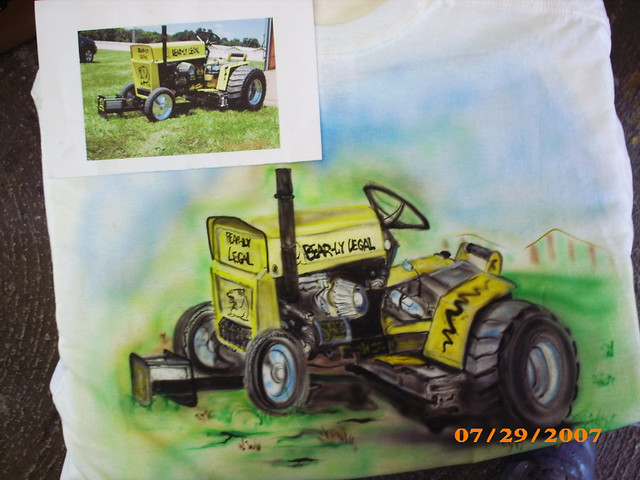 Custom Pulling Tractor T Shirts : Pulling lawn tractor custom airbrushed flickr photo