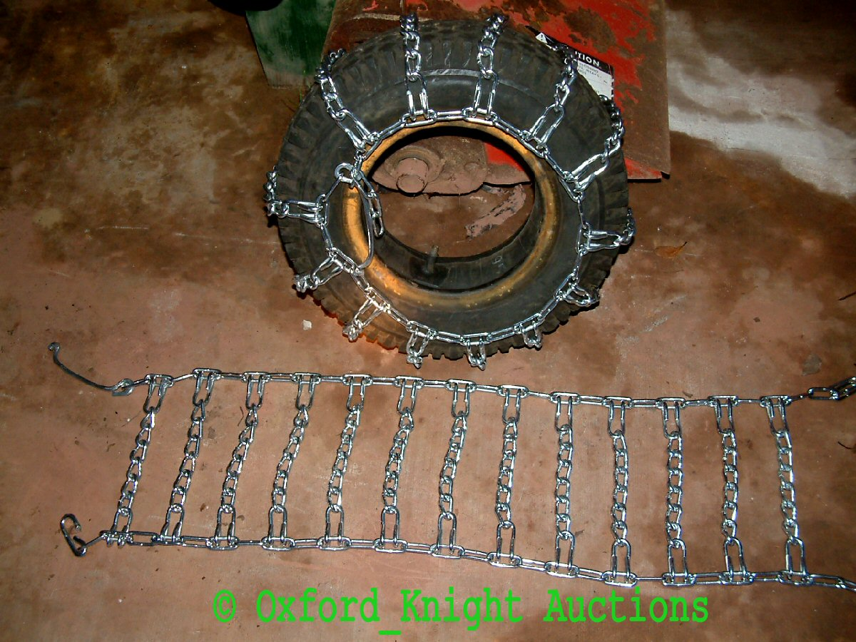 Farm Tractor Chains : Snow blower tiller tractor tire chains ebay