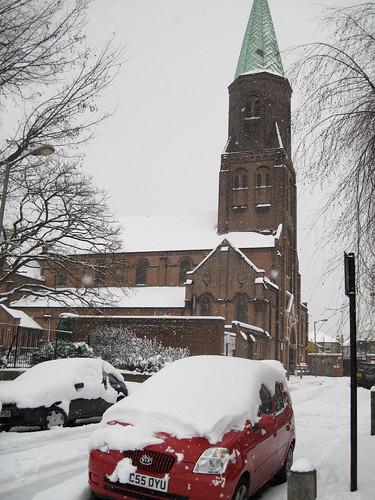 Winter Snow in Battersea, London