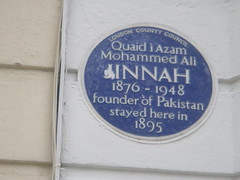 Photo of Mohammed Ali Jinnah blue plaque