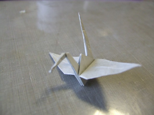 chewing gum foil crane   Flickr - Photo Sharing! - photo#24