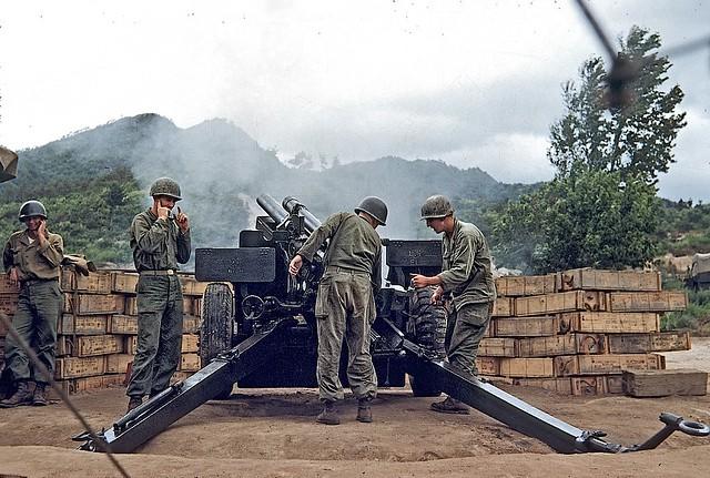 Battery B, 58th Field Artillery Battalion, 3rd Infantry Division, Battle of the Kumsong Salient, Korean War, July 1953