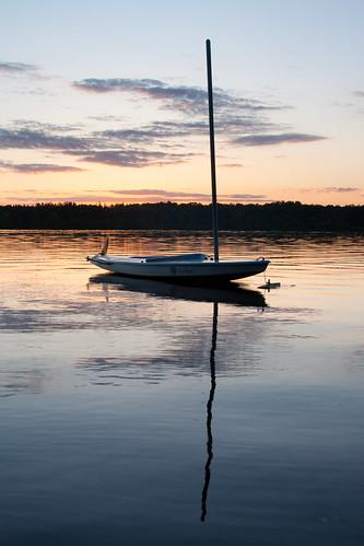 sunset wisconsin sailboat arcadefire sunfish intervention lakepokegama minong birchtrail