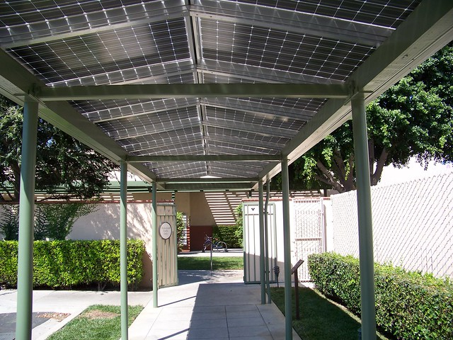 Solar Panels Line Walkway At Walt Disney Studios Explore