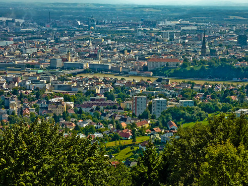 Linz seen from the Postlingberg