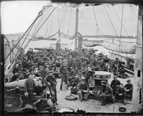 "Deck of Gun Boat, Probably ""Mendota."""