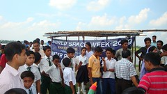 On  the spur of river Jamuna, Water Rocket Contest site