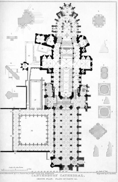 Canterbury Cathedral: plan   Flickr - Photo Sharing!