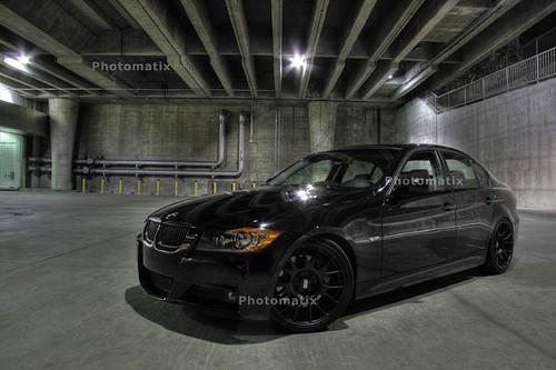 Jet Black BMW 335i HDR