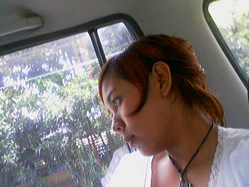 trip window girl car view jakarta chiko bekasi vechile